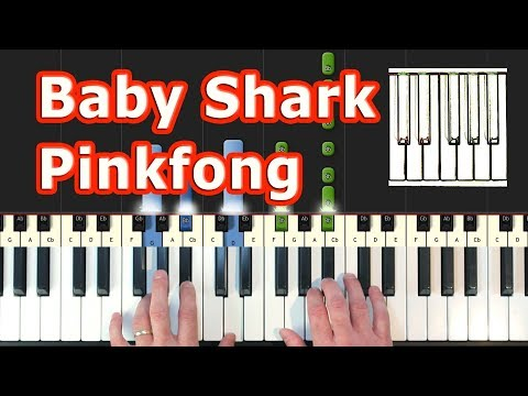 baby-shark-song---piano-tutorial-easy---pinkfong---how-to-play-(synthesia)