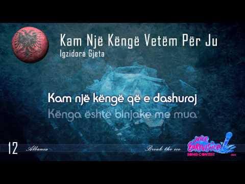 """Igzidora Gjeta """"Kam Një Këngë Vetëm Për Ju"""" (Albania) // Karaoke version"""