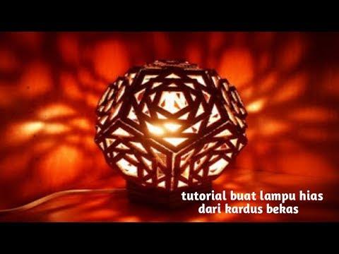 Cara Membuat Lampu Tidur Nan Cantik Dari Kertas Dan Kardus Bekas.