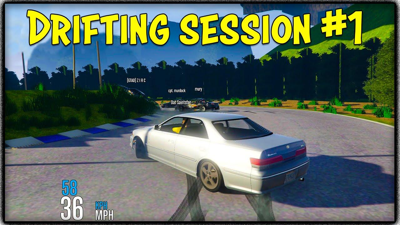 GTA 5 MODDED DRIFTING SESSION #1 (FiveM Custom Map & Cars) [GTA V]