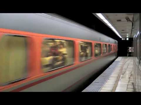 [HD] The Taiwan TRA Local train EMU500 and Tzu-Chiang Limited Express E1000 at Taipei Station