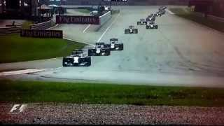 F1 Malaysian Grand Prix 2014 start of race