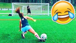 Football funny videos #90 ● women soccer girls fails ● comic moments vines 2017 ● goals ● skills