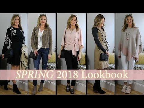 Outfit Ideas for Spring 2018! LookbookCapsule Wardrobe