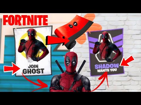 Deface GHOST Or SHADOW Posters All Locations - Fortnite Week 6 Deadpool Challenge