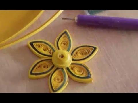 Цветок в технике квиллинг / Квиллинг для начинающих
