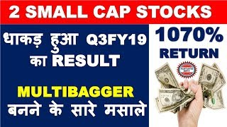 Two small cap with excellent quarterly result | Multibagger stock 2019 india | Small Cap shares 2019