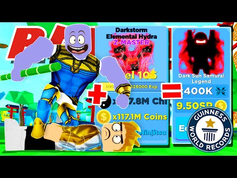 Noob THANOS With FULL TEAM of Z-MASTER gets MAX RANK in 6 MINUTES in Roblox Ninja Legends (Giveaway)