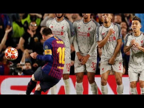 Lionel Messi 600th Goal Off Spectacular Free Kick vs Liverpool