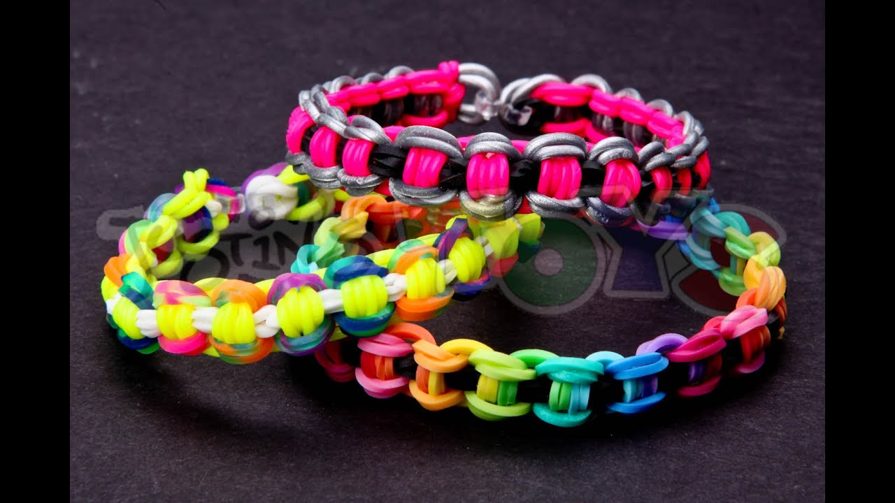 How To Make A Bicycle Chain Rainbow Loom Bracelet Youtube
