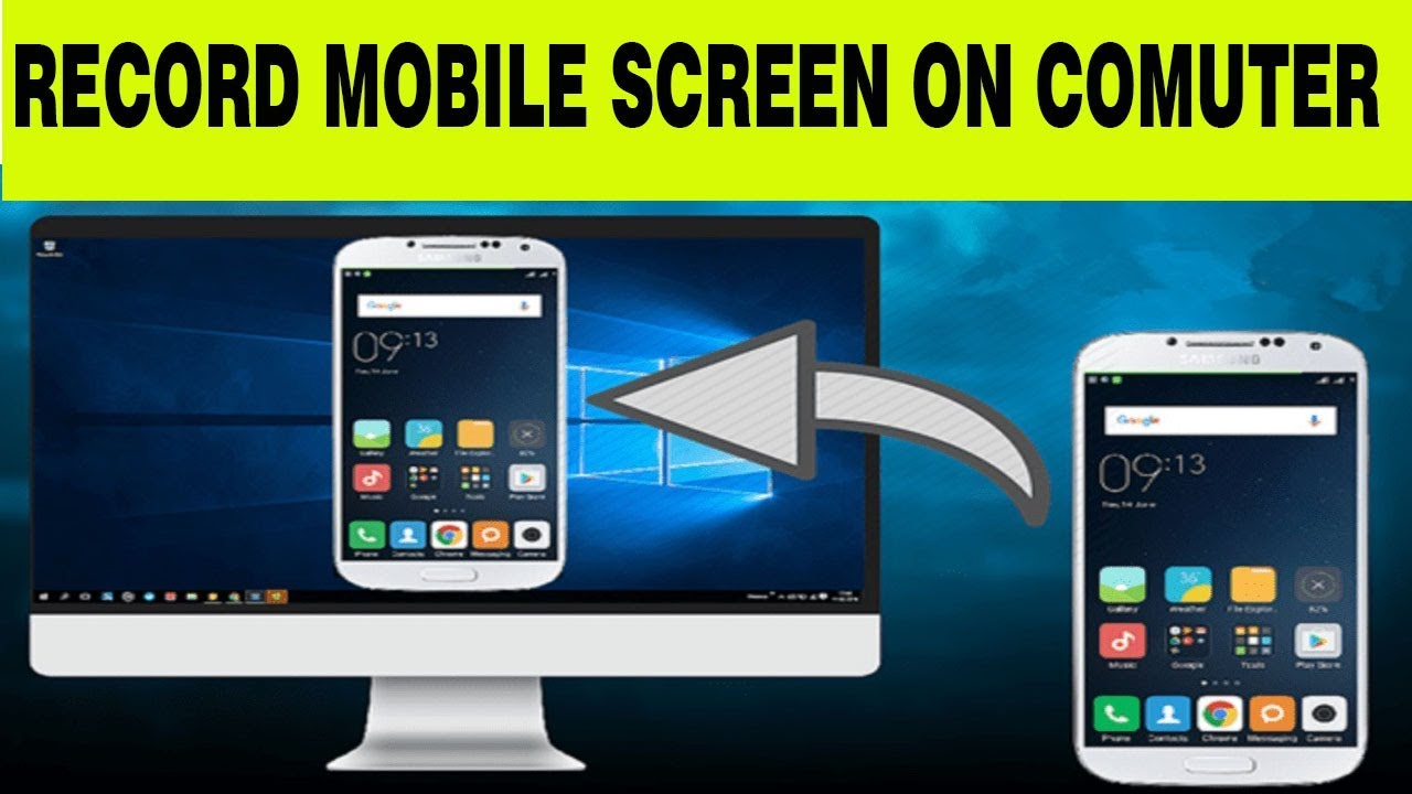 How To Record Mobile Screen In Computer How To Mirror Mobile Phone To Pc Youtube