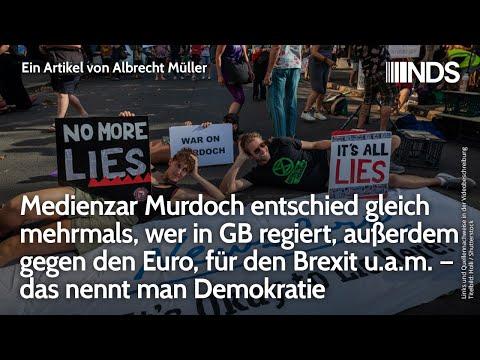 Medienzar Murdoch entschied gleich mehrmals, wer in GB regiert – das nennt man Demokratie