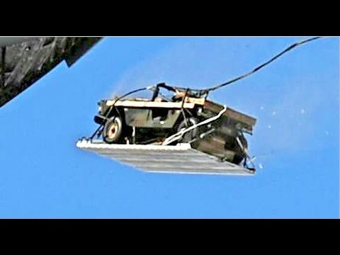 THIS IS HOW US Military Aircraft Air Drops Military Vehicles