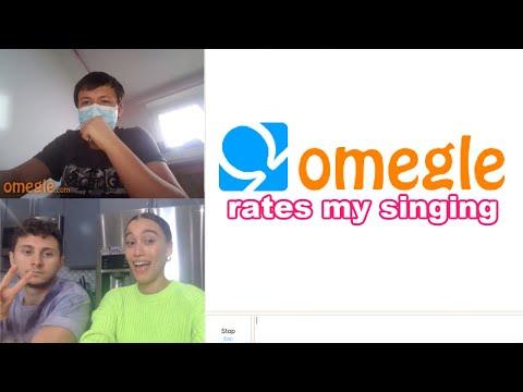 SINGING TO STRANGERS ON OMEGLE *they rate me!!* w/ David Alvarez