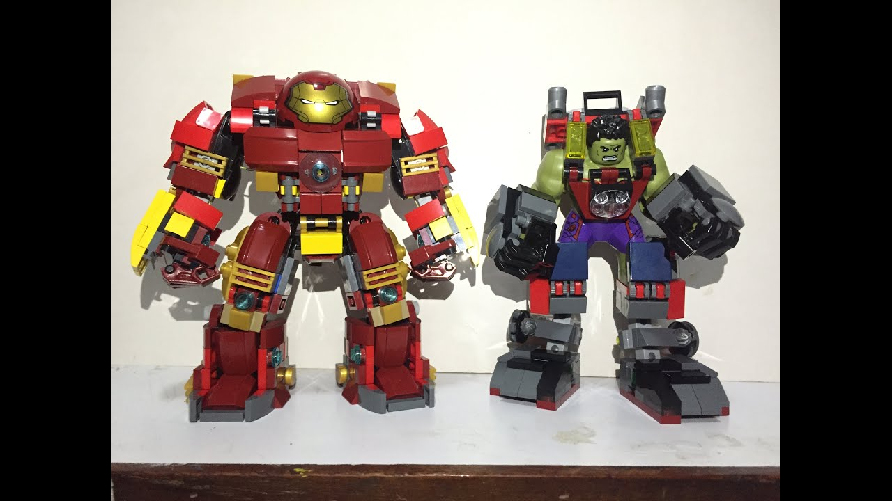 LEGO Hulk Armor VS Hulkbuster custom moc led | Doovi