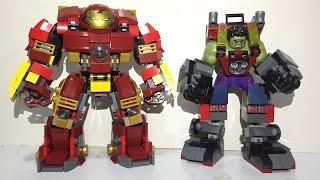 LEGO Hulk Armor VS Hulkbuster custom moc led