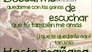 Los Claxons - Hasta Mañana ♡ [ letra+musica ]