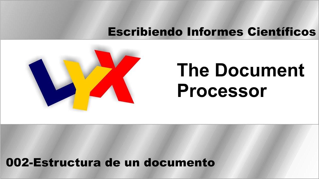 Cap2 Estructura Documento LYX - YouTube