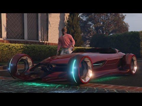 GTA 5 Mercedes Benz Silver Lightning car mod