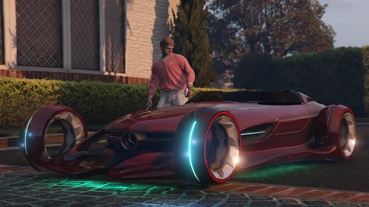 GTA 5 Mercedes Benz Silver Lightning car mod - YouTube