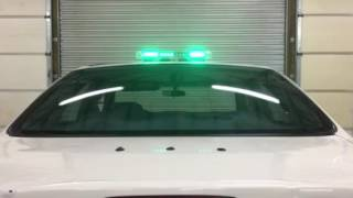 superior led r 22g 22 green roof mount mini light bar magnet security fire police ems caution emer