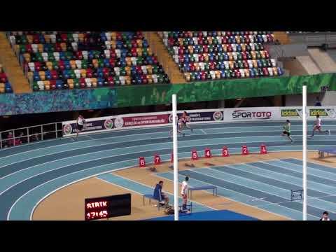 İstanbul U18 Taf Turkcell Salon Yıldızlar Türkiye Şampiyonası 400 metre erkekler 10  seri