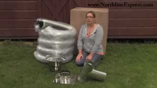 Diy Chimney Liner Single-wall Kit With Tee