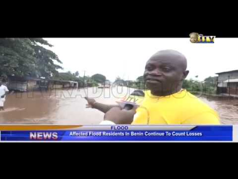 Affected flood residents in Benin continue to count losses