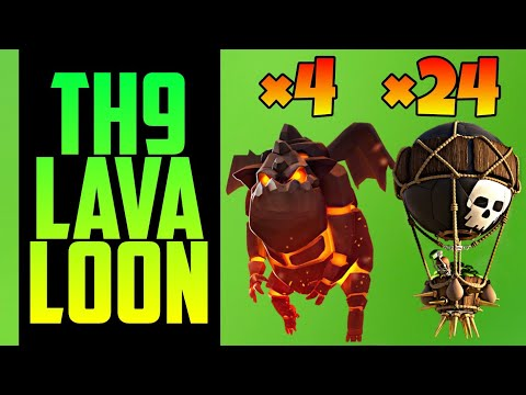 TH9 LavaLoon (Lava Hound + Balloon) War Attack Strategy | Part 9 | Clash of Clans