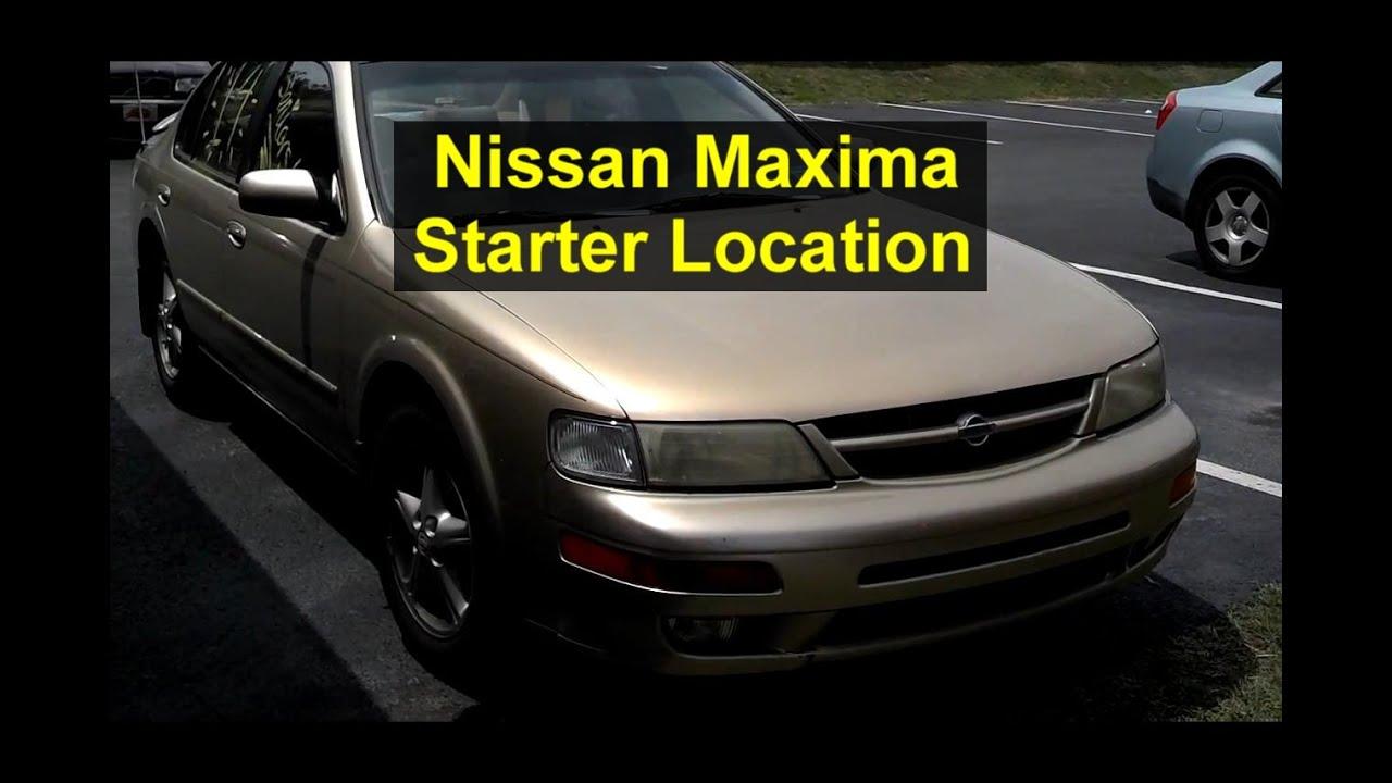 Nissan Maxima Starter Motor Location Votd Youtube