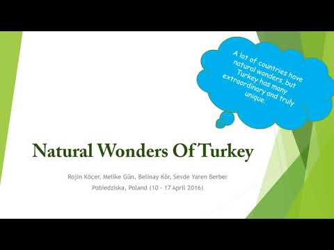 Outstanding Creatrions of Nature in Our Countries (financed by EU funds, Erasmus+)