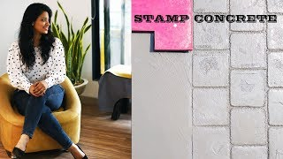HOW TO STAMP CONCRETE FLOOR I IN  DRIVE WAY & WALKWAY IN INDIA I ASK IOSIS HINDI