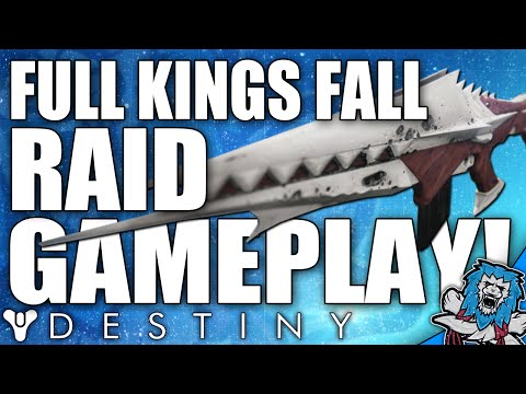 Destiny: Full Kings Fall Raid Gameplay! W/ Amazing Looting Rewards!
