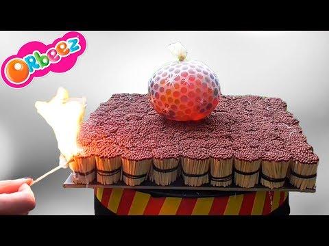 EXPERIMENT 20000 Matches vs ORBEEZ balls Balloon SATISFYING