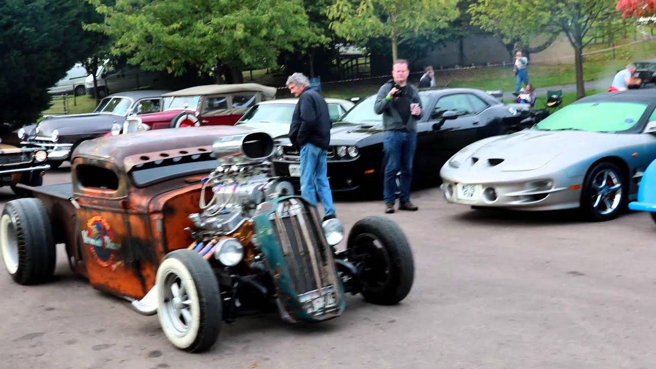 Blown V8 Rat-Rod Start-up - YouTube
