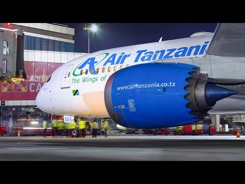 Air Tanzania Boeing 787 Dreamliner 5H-TCG at Mumbai Airport