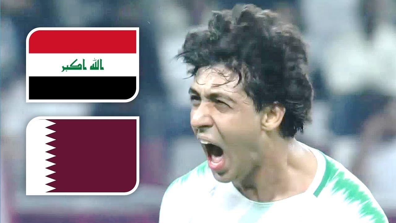 ردة فعل 8 معلقين على هدف لاعب منتخب العراق محمد قاسم الصاروخي في مرمى قطر | خليجي 24