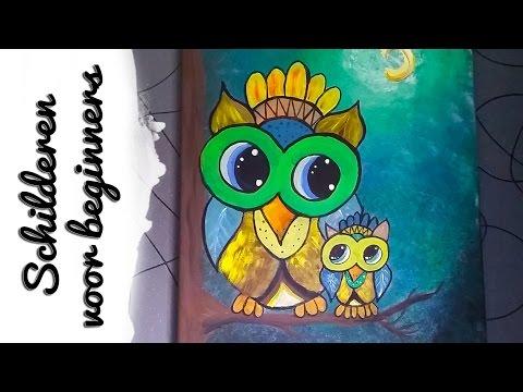 Mama en Baby Uil Schilderij | Craftmama | Schilderen voor Beginners ☆ from YouTube · Duration:  1 hour 16 minutes 47 seconds