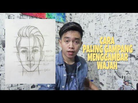 Cara Menggambar Wajah Untuk Pemula - How To Draw A Face