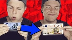 5 € zu 50 € Geldschein verwandeln Zaubertrick MIT AUFLÖSUNG - so machst du fett Kohle!