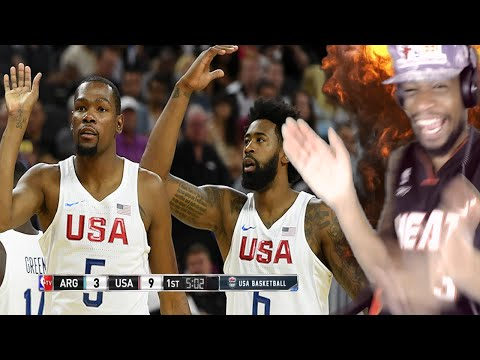 LOL MISSED A LAYUP! USA vs ARGENTINA FULL GAME HIGHLIGHTS REACTION!!