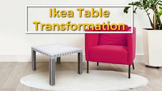 How To Stencil An Inlay Design On A Ikea Lack Table