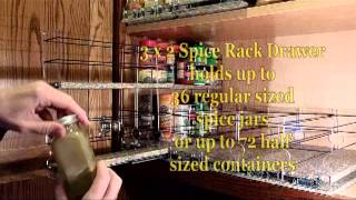 Vertical Spice  - Spice Rack Drawers - Load'em Up