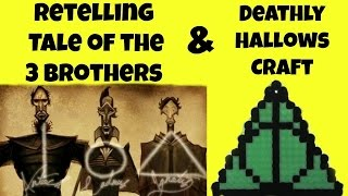 Create the Deathly Hallows with Perler Beads & Tale of the 3 Brothers Retelling - Harry Potter Craft