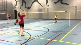briljant punt badminton jeugd