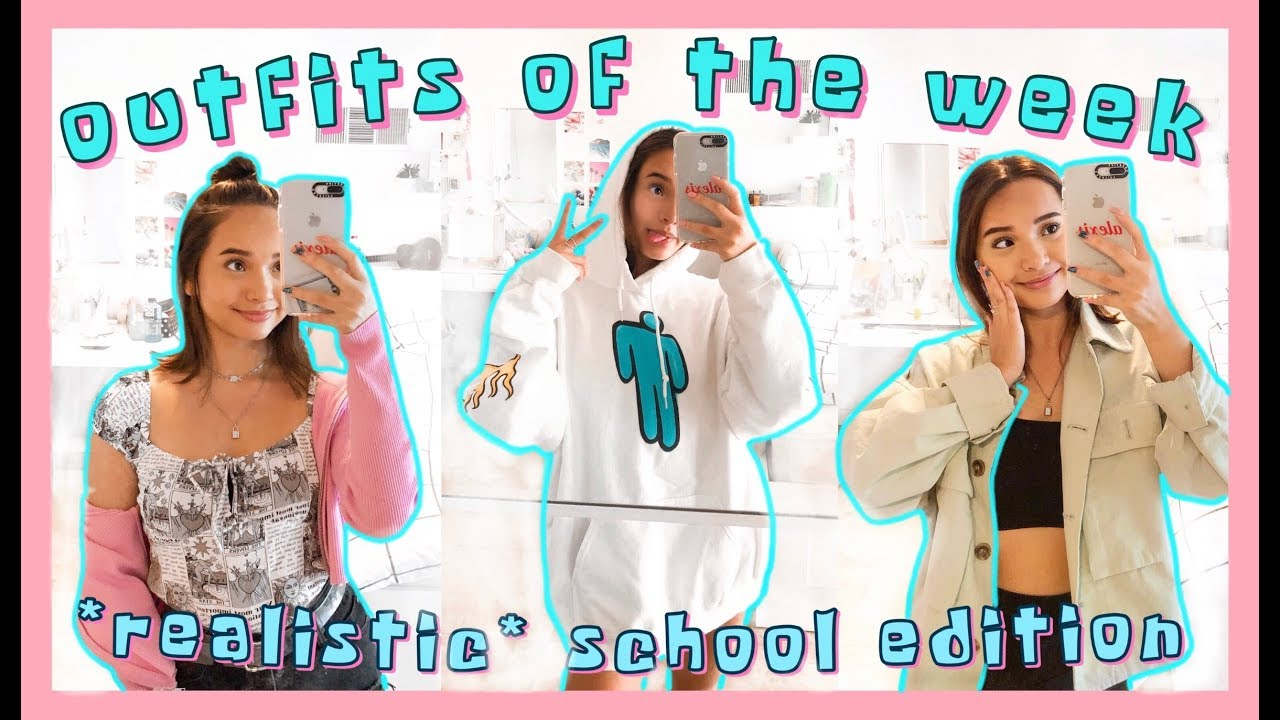 [VIDEO] - what I wear to school fall edition ?? realistic school outfits of the week (outfit inspo) 1