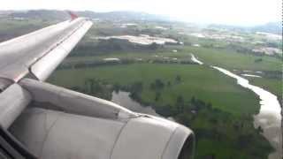 A-320 Avianca Aterrizaje en Bogota llegada a nueva Terminal 2 (T2) HD