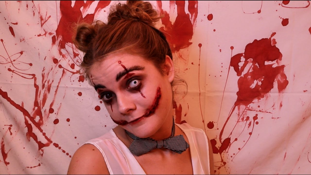 halloween maquillage clown diabolique youtube. Black Bedroom Furniture Sets. Home Design Ideas