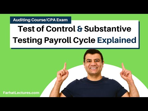 Payroll & Personnel Cycle Audit;Test of Control & Substantive Test|Auditing and Attestation|CPA Exam