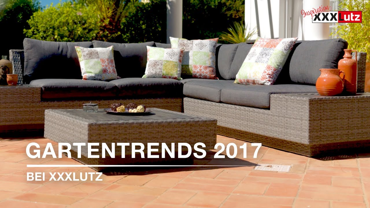 gartentrends 2017 gartenm bel xxxlutz youtube. Black Bedroom Furniture Sets. Home Design Ideas